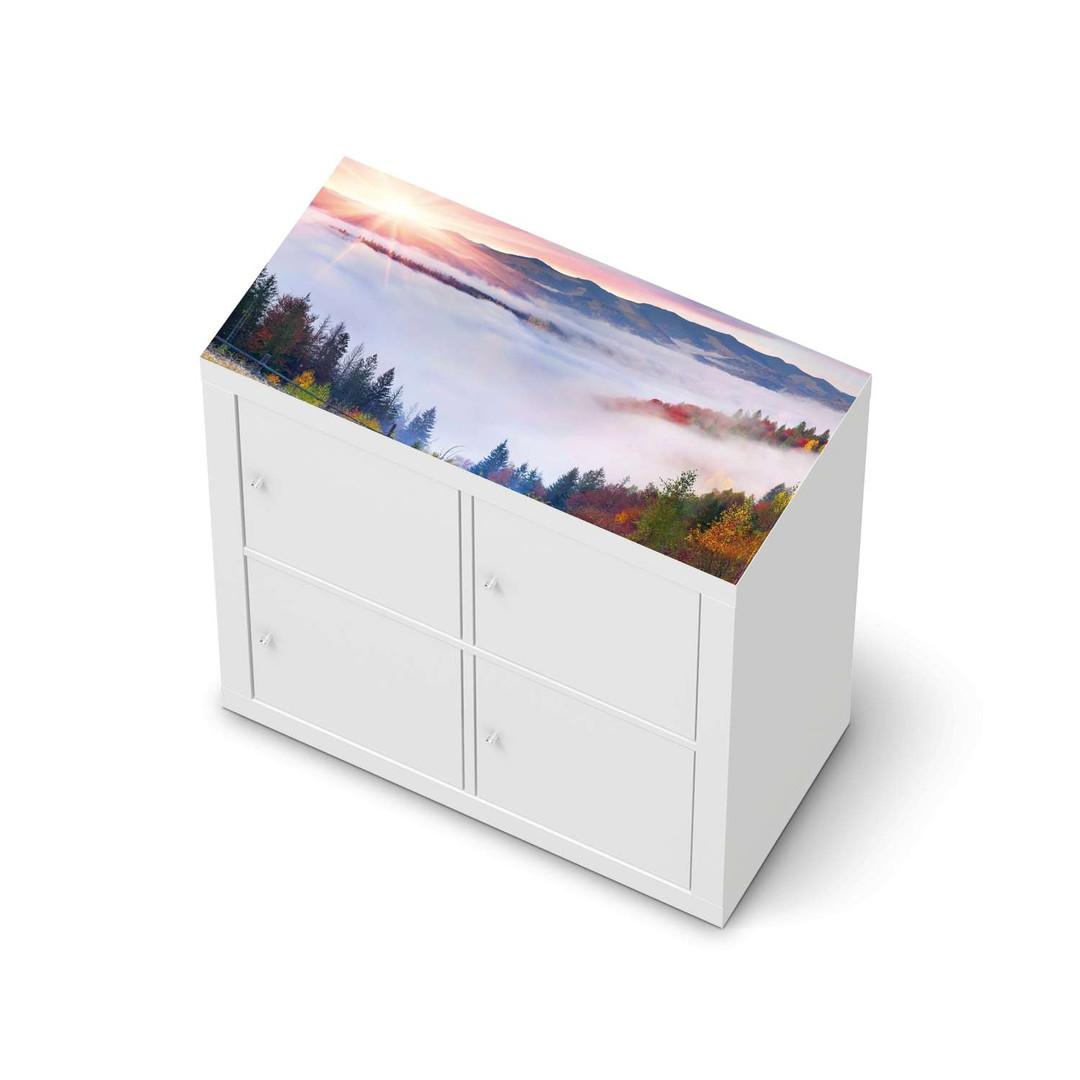 Möbelfolie IKEA Expedit Regal oben - Herbstwald - CR114638