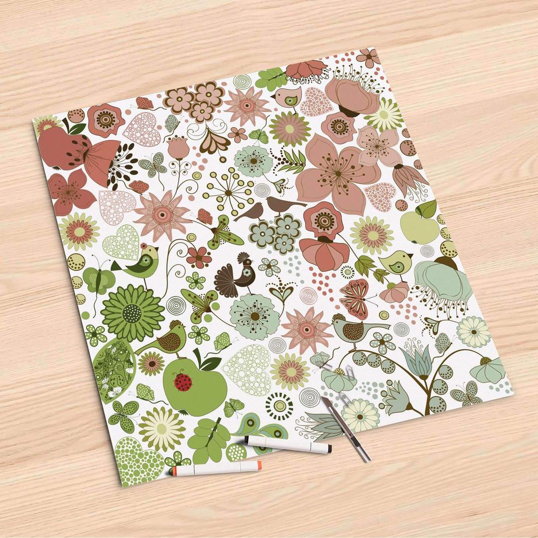 Folienbogen (60x60cm) - Flower Pattern - CR107075