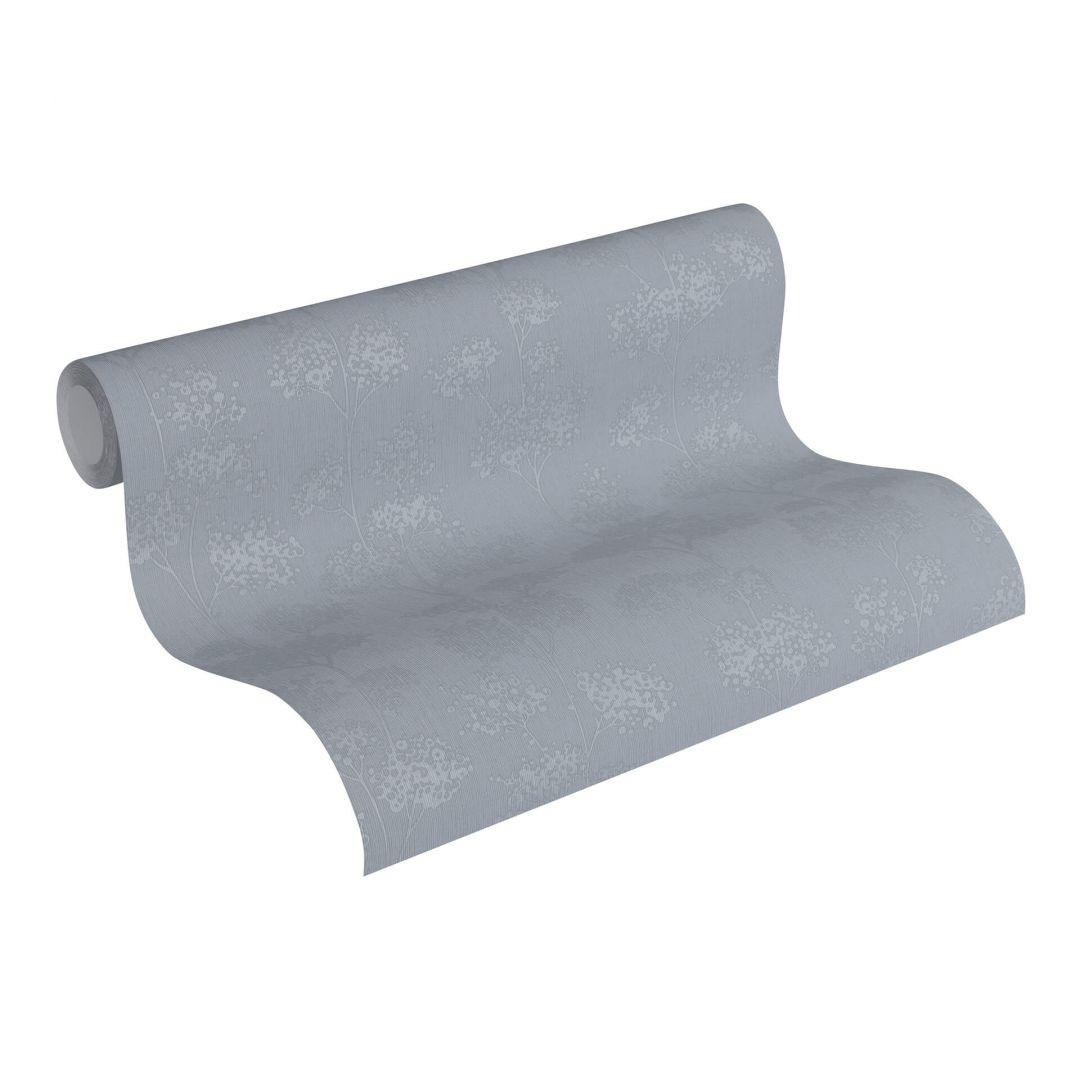 Vliestapete Premium Wall Tapete floral grau, metallic - WA251173
