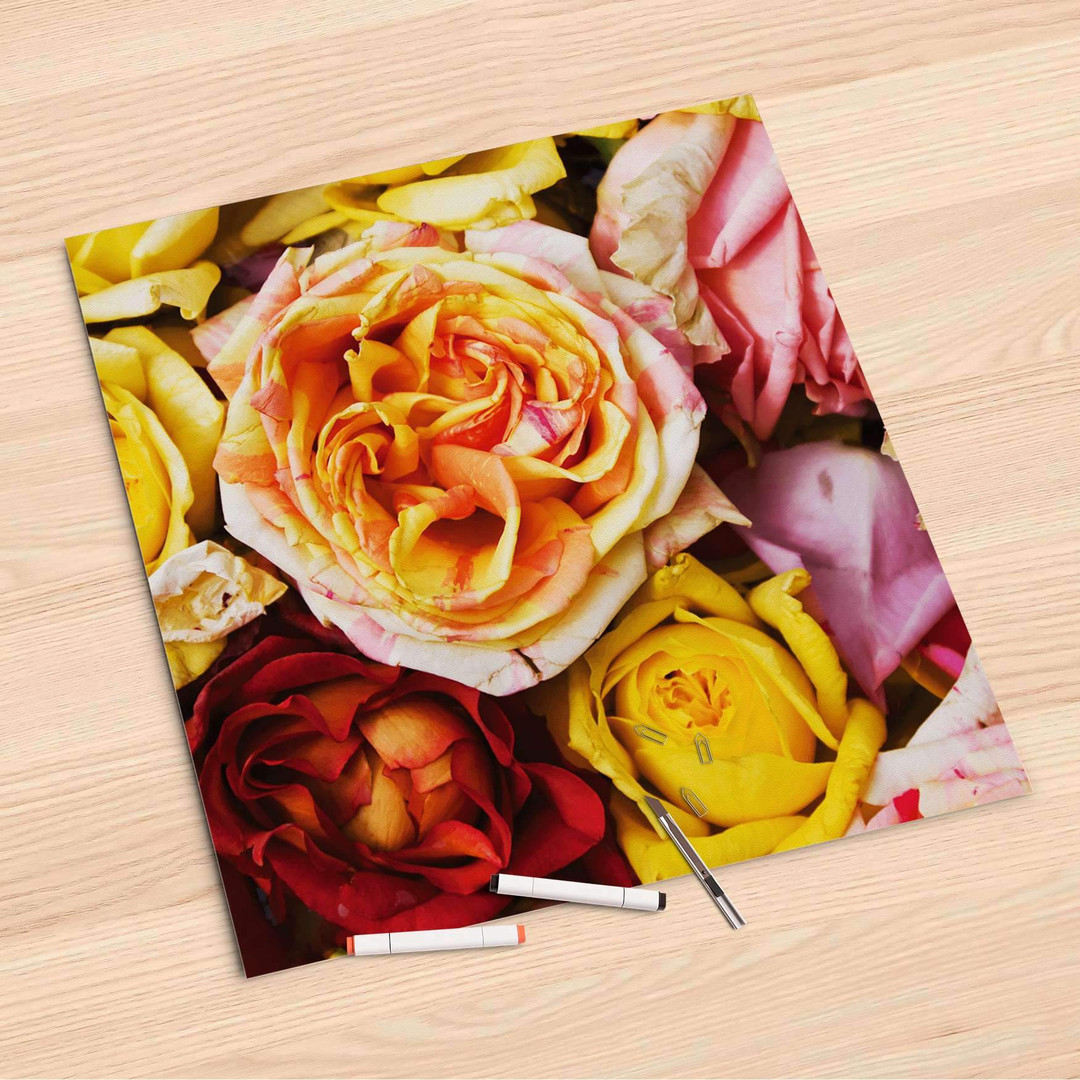 Folienbogen (60x60cm) - Yellow Rose - CR107247
