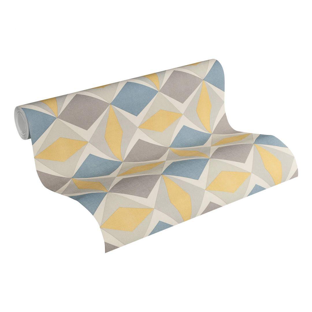 A.S. Création Vliestapete Scandinavian 2 Tapete geometrisch grafisch blau, gelb, grau - WA251341
