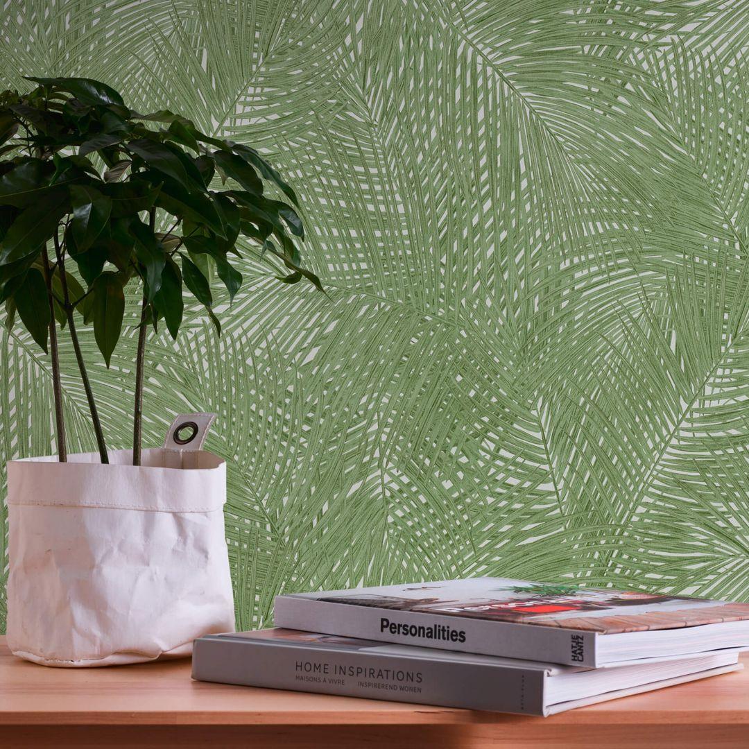A.S. Création Vliestapete Sumatra Tapete mit Palmenblättern grün, weiss - WA288298