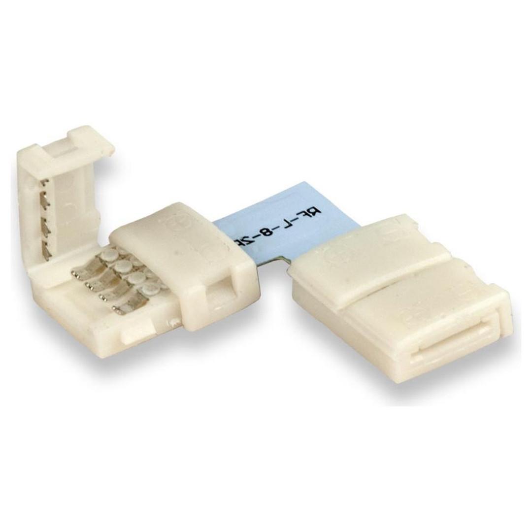 Clip-Eck-Verbinder (max. 5A) für 2-pol. IP20 Flexstripes mit Breite 12mm, Pitch-Abstand >12mm - CL120333