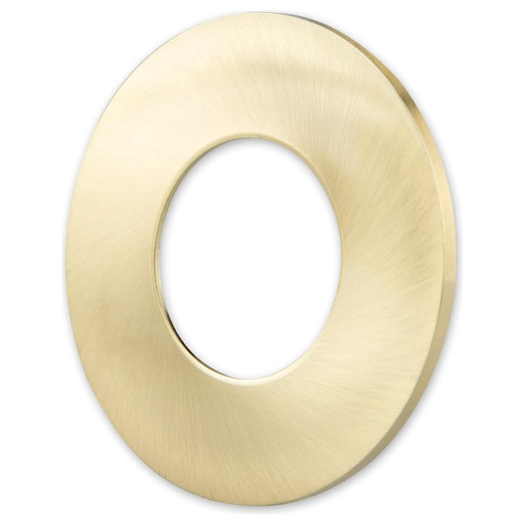 Cover Aluminium gold gebürstet für Einbaustrahler Sys-68 - CL120581