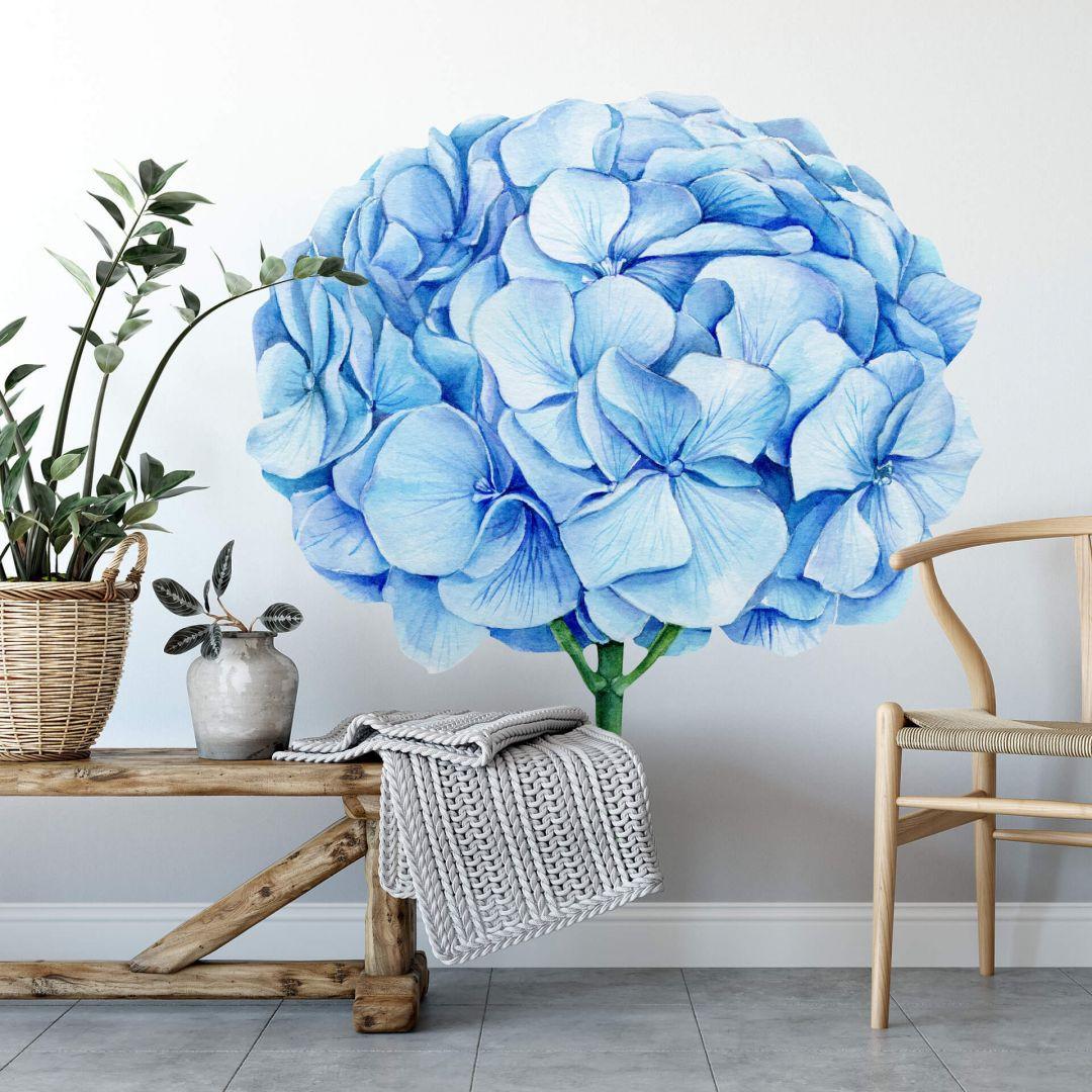 Wandtattoo XXL Blaue Hortensie - WA284057