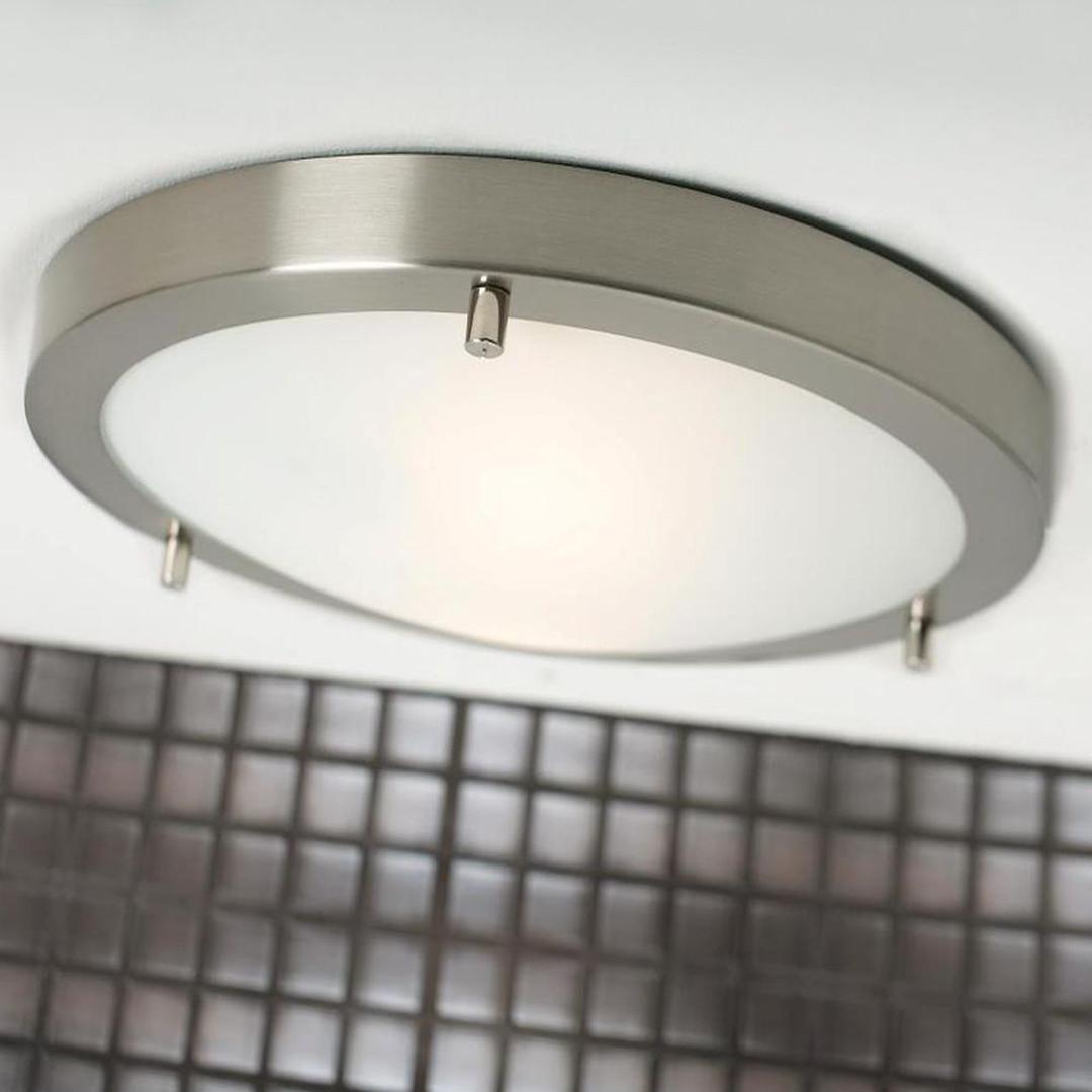 Deckenleuchte Ancona Maxi Stahl-gebürstet grau weiss - CL101989