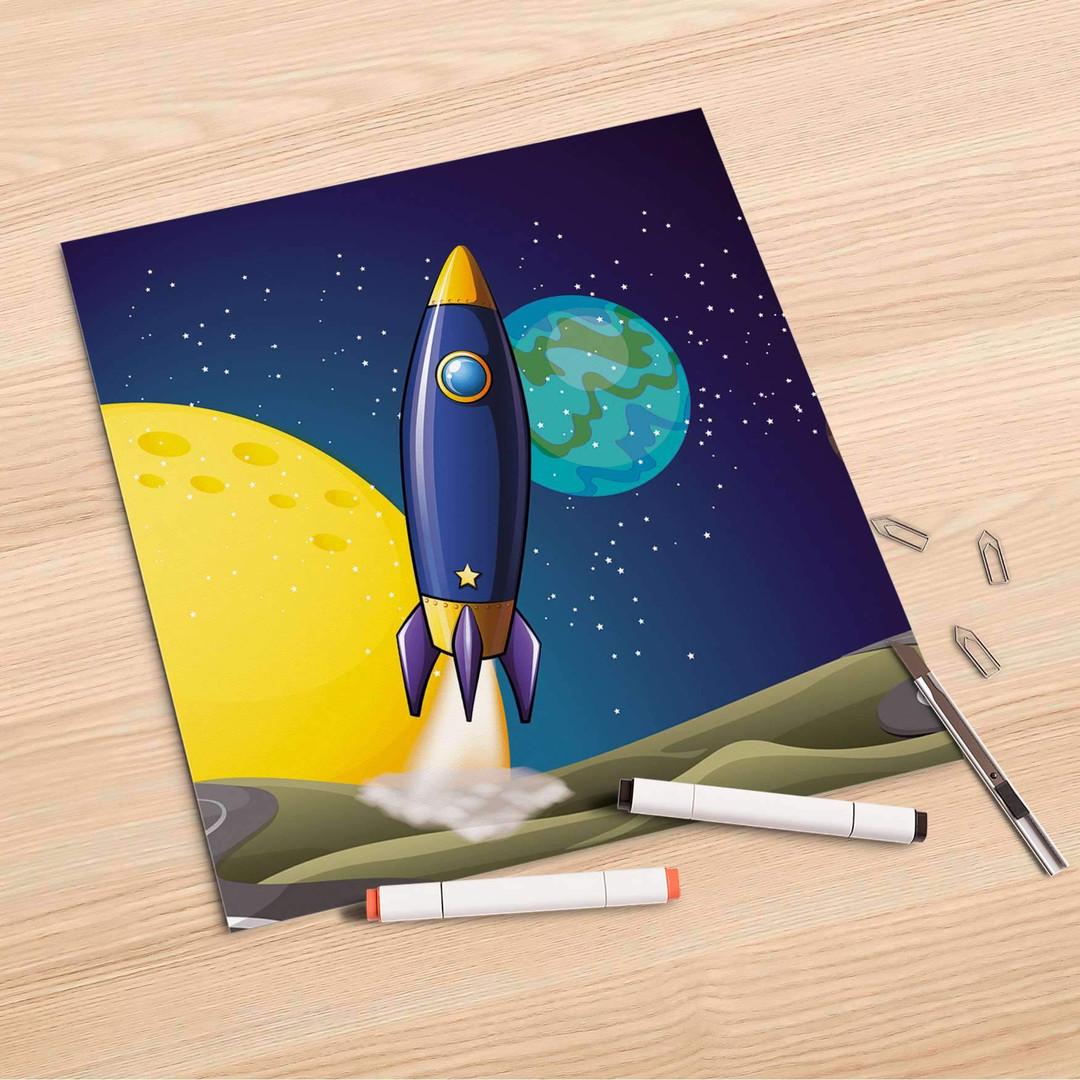 Folienbogen (30x30cm) - Space Rocket - CR106940