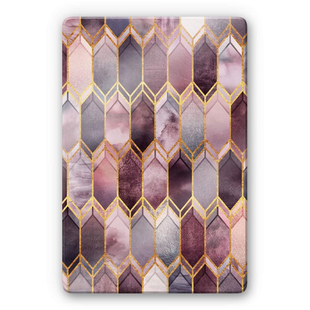 Glasbild Fredriksson - Glasmalerei - Rosé und Gold - WA252798