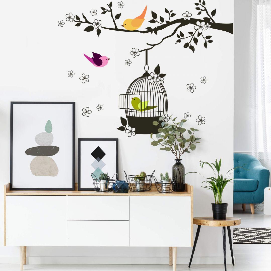 Wandsticker Vögelchen im Baum - WA203193