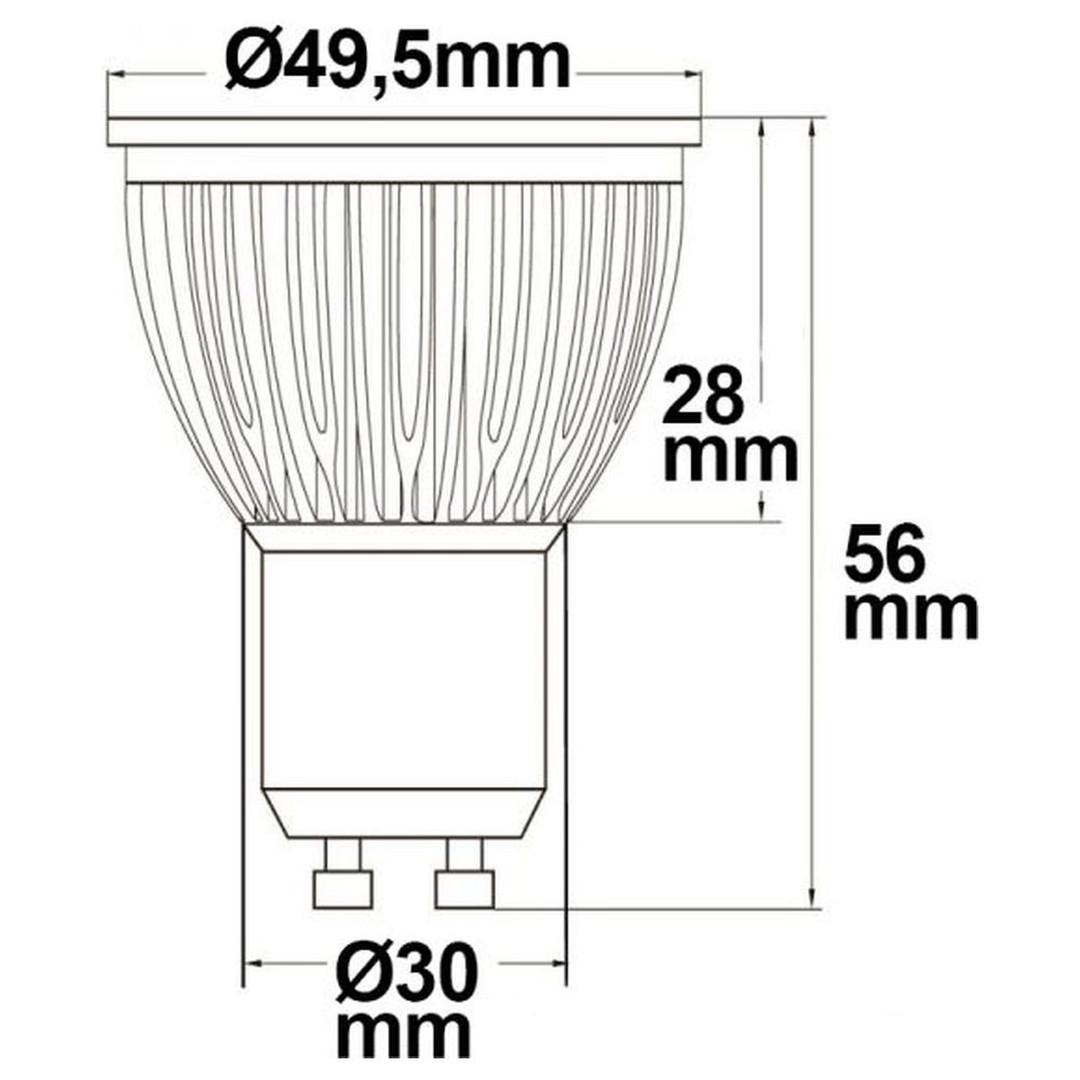 GU10 LED Strahler 6W Glas diffuse, 120°, neutralweiss - CL120367