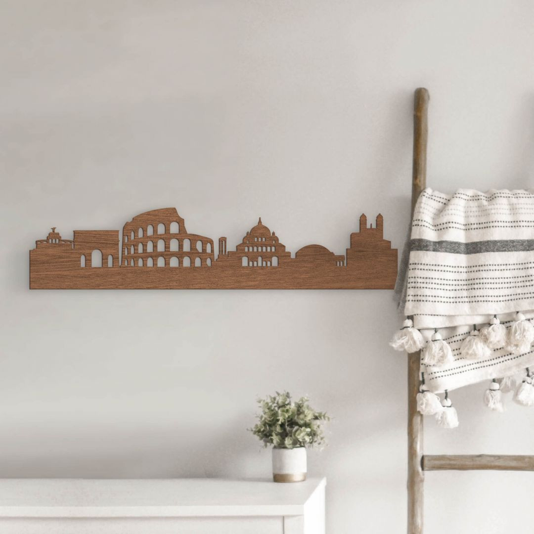 Holzkunst Mahagoni Furnier - Skyline Rom - WA253571