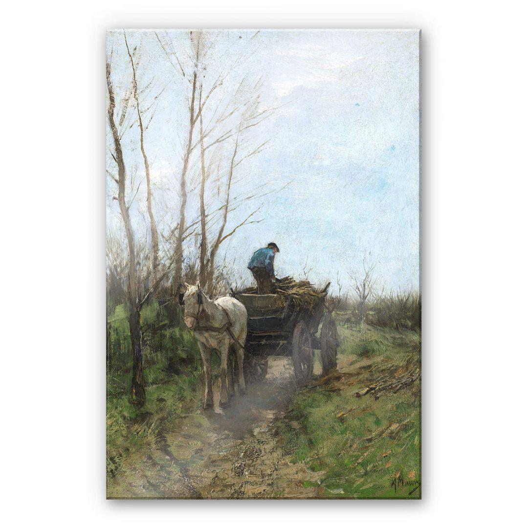 Acrylglasbild Mauve - Holz sammeln - WA251824