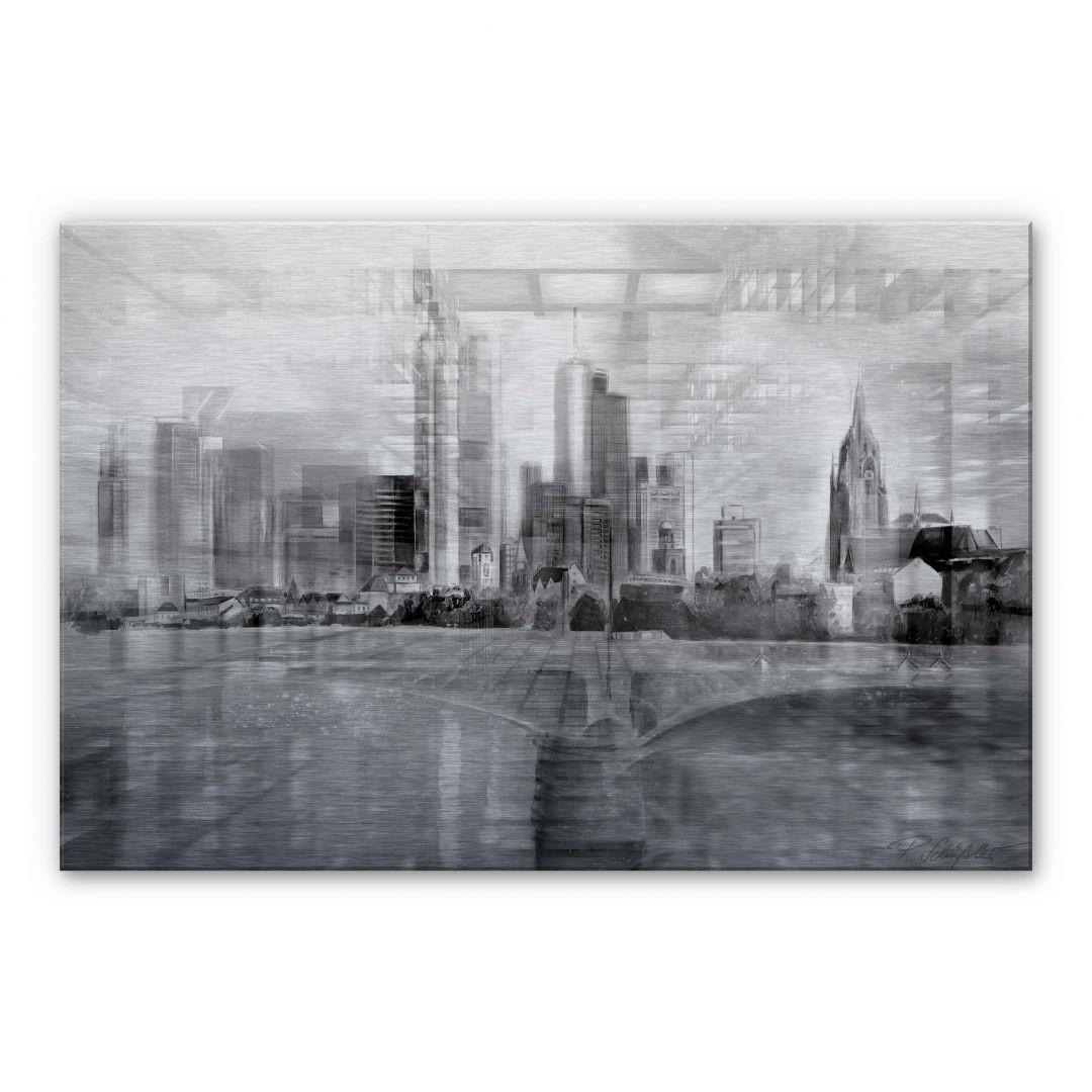 Alu-Dibond-Silbereffekt Schüssler - Frankfurt am Main - WA252200