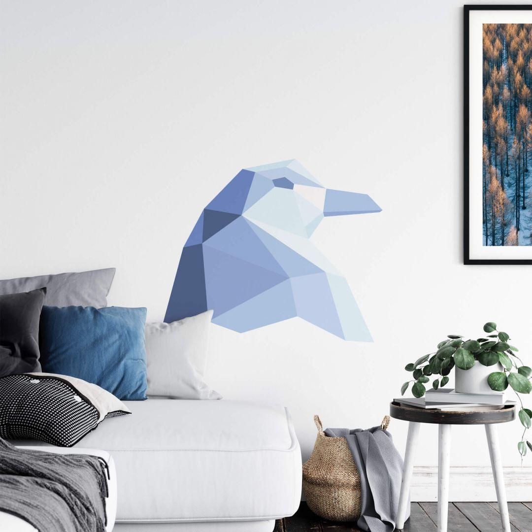 Wandtattoo Polygon - Pinguinkopf - WA283968