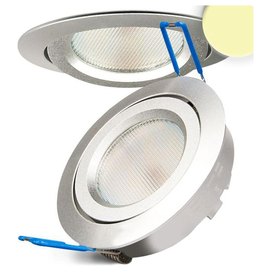 LED Einbaustrahler, silber, 8W SMD, 120°, rund, warmweiss, dimmbar - CL120061