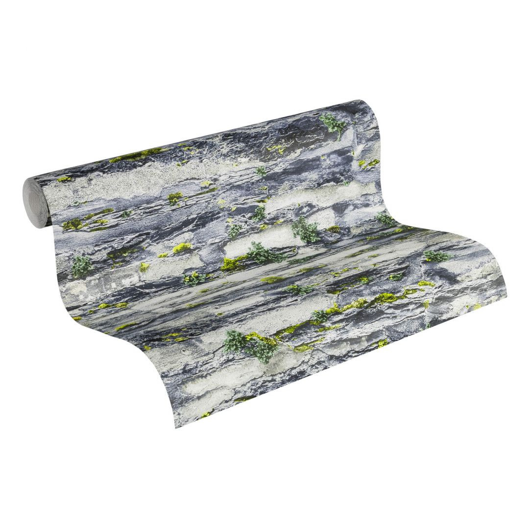 A.S. Création Papiertapete il Decoro Tapete in Naturstein Optik grau, schwarz - WA267756