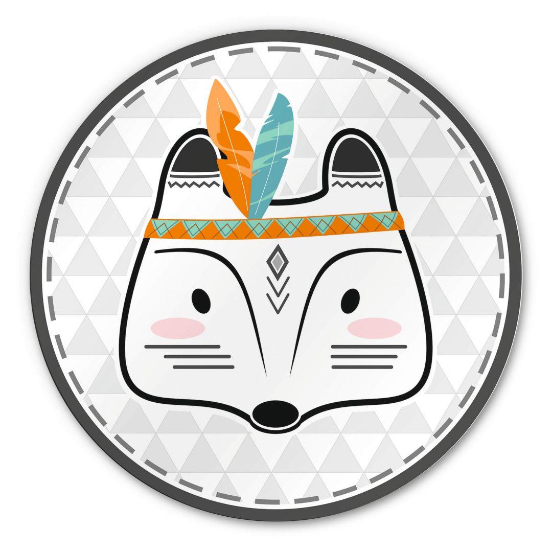 Alu-Dibond - Indianer-Fuchs - Rund - WA288491