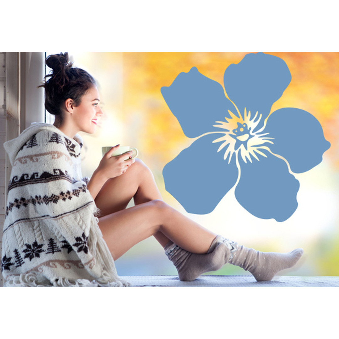 Glasdekor Hibiskusblüte - CG10237