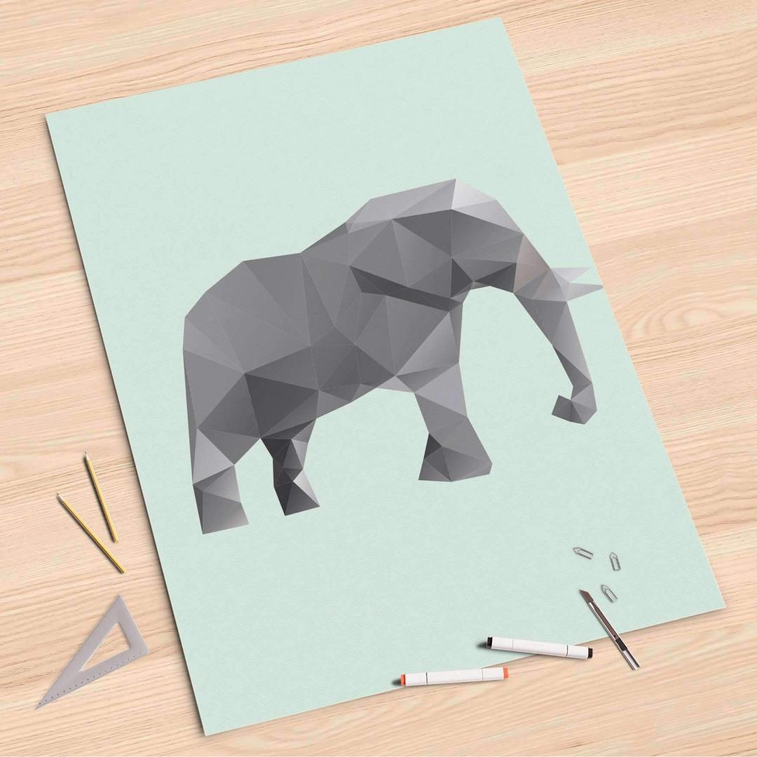 Folienbogen (80x120cm) - Origami Elephant - CR107385