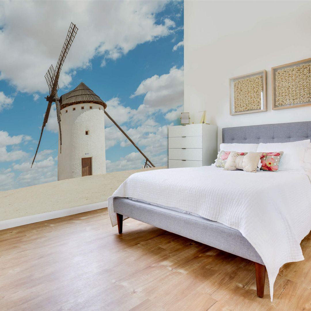 Fototapete Colombo - Windmühlen auf der Don Quijote Route in Spanien - WA252459