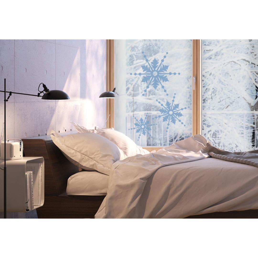 Glasdekor Drei Schneeflocken - CG10228