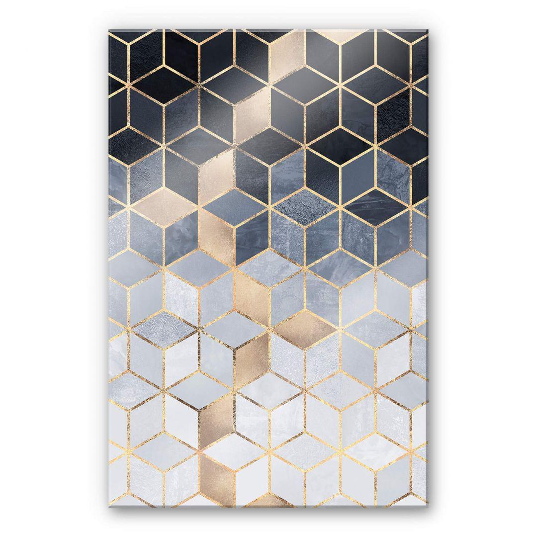 Acrylglasbild Fredriksson - Blaue Geometrie - WA251654