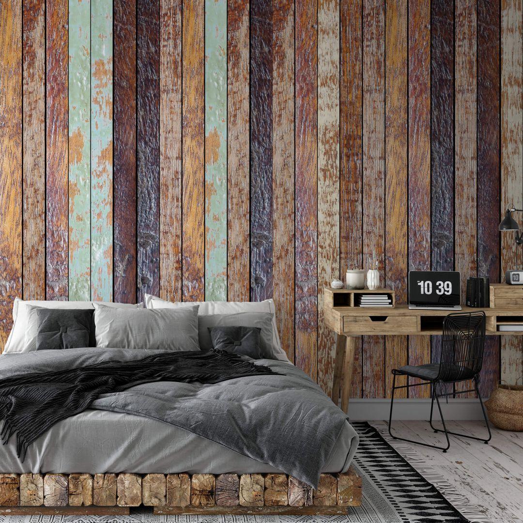 Fototapete - Vintage Holzwand - WA288779