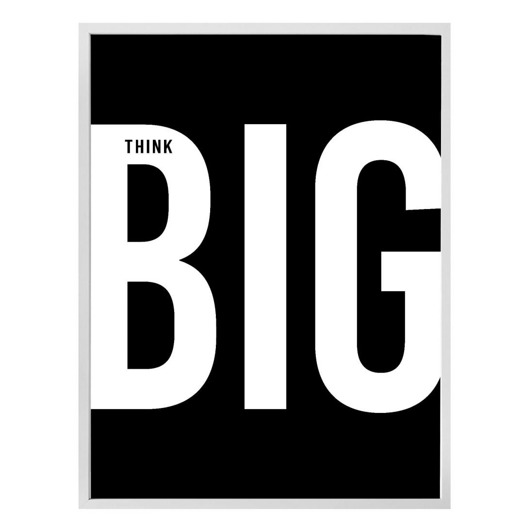 Poster Think big - black - WA259132