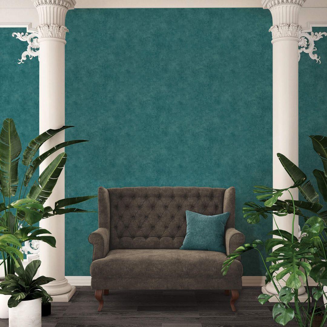 A.S. Création Vliestapete Sumatra Tapete Uni blau, grün - WA288196