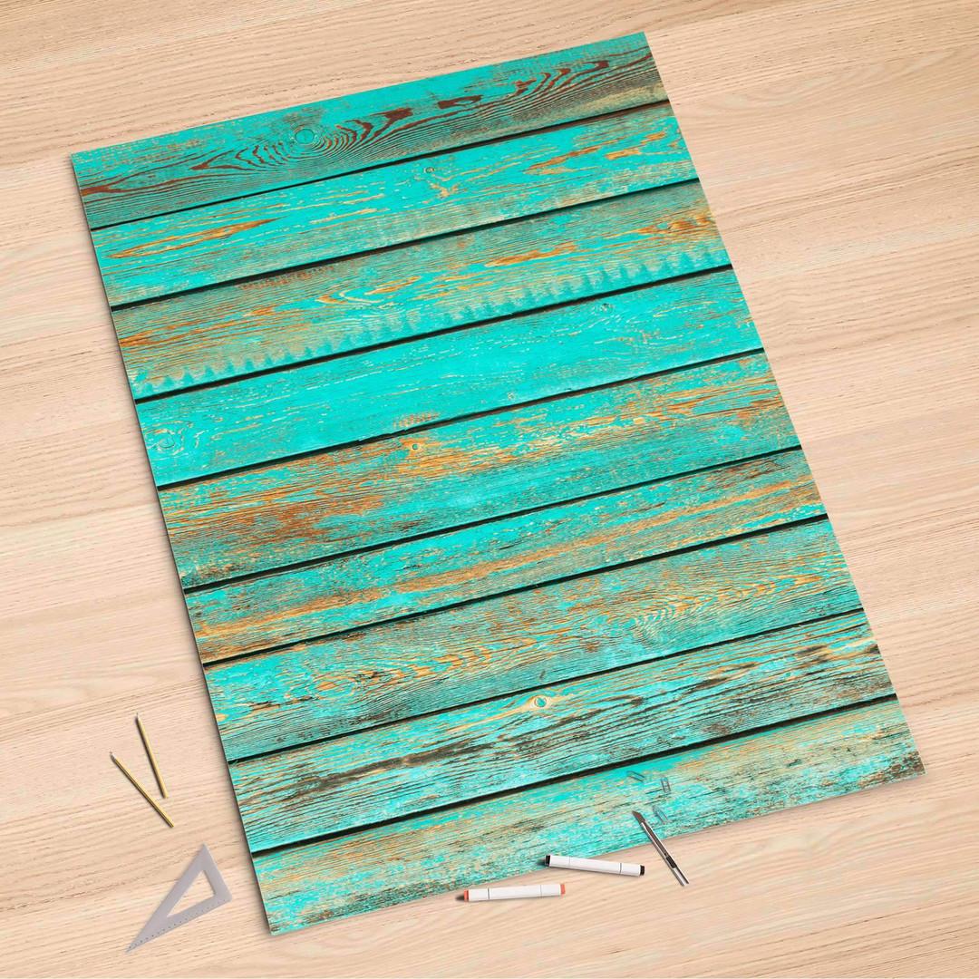 Folienbogen (100x150cm) - Wooden Aqua - CR106314