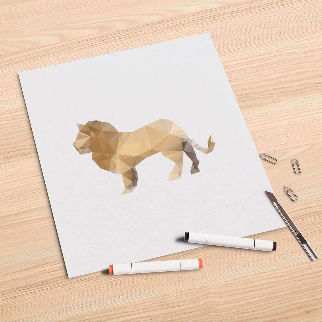 Folienbogen (30x30cm) - Origami Lion - CR106895