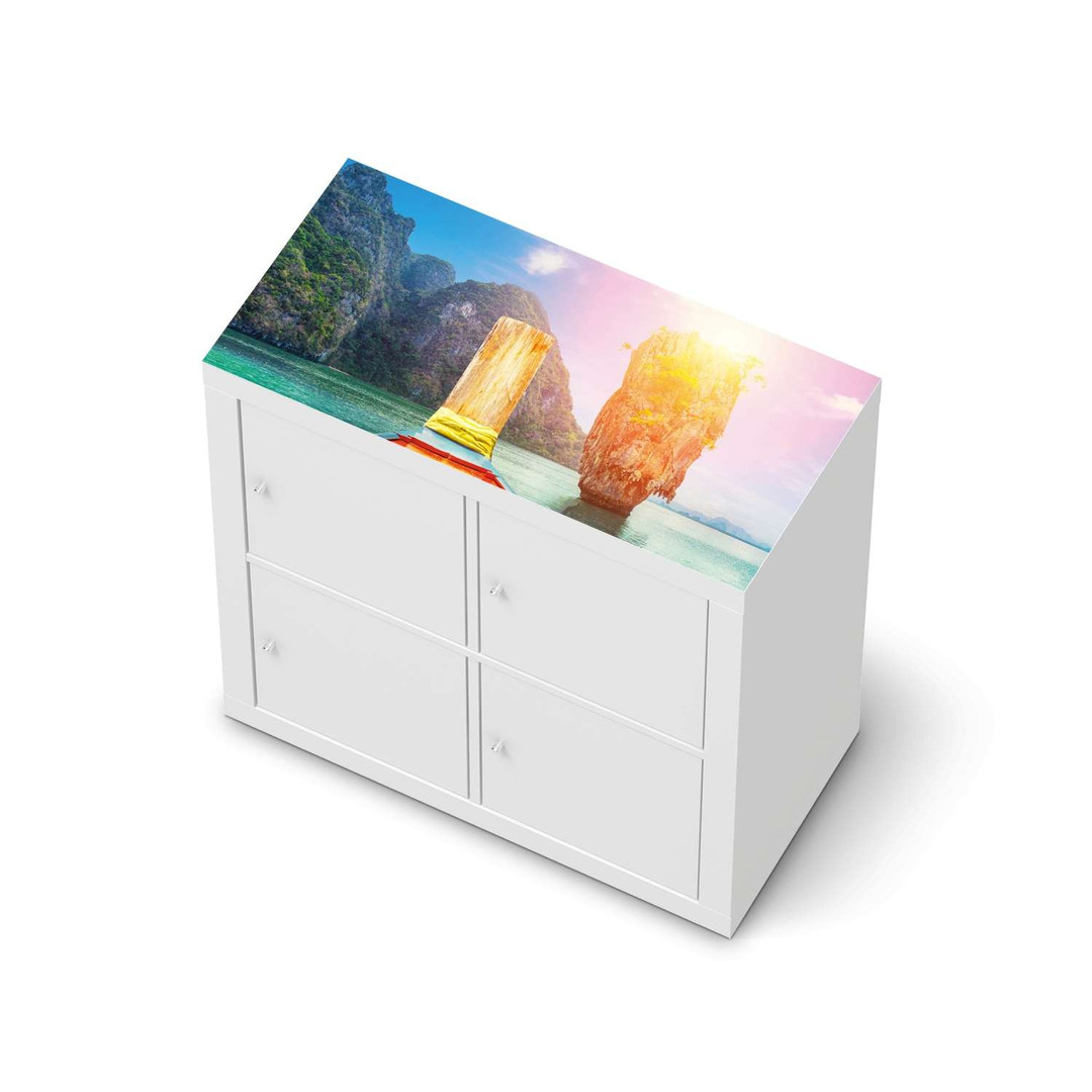 Möbelfolie IKEA Expedit Regal oben - Blue Water Lagoon - CR114615
