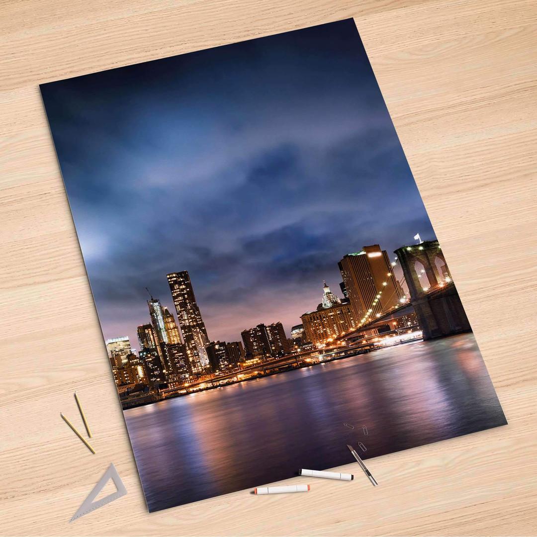 Folienbogen (100x150cm) - Brooklyn Bridge - CR106134