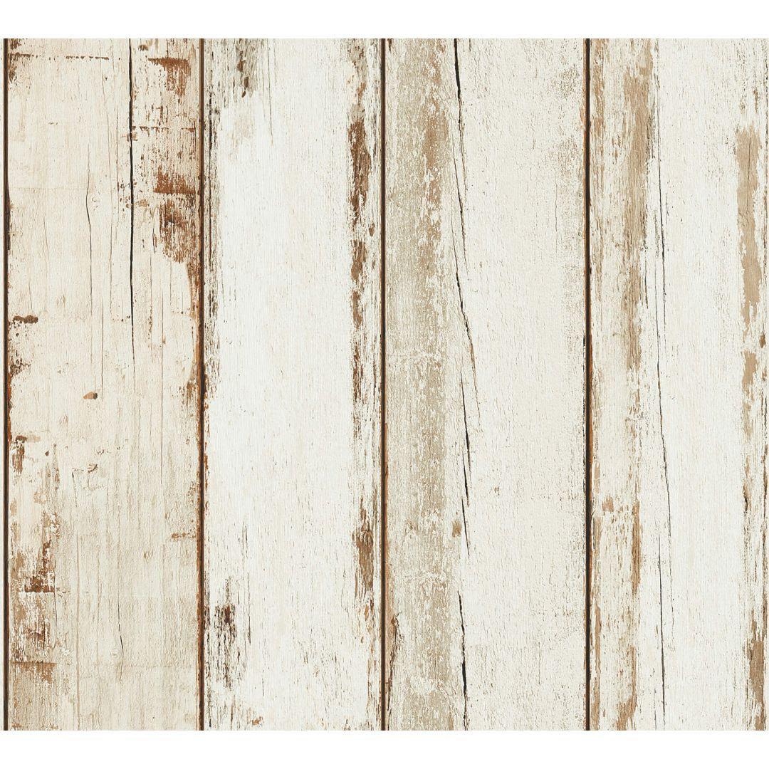 A.S. Création Vliestapete il Decoro Tapete in Vintage Holz Optik braun, creme, schwarz - WA268376