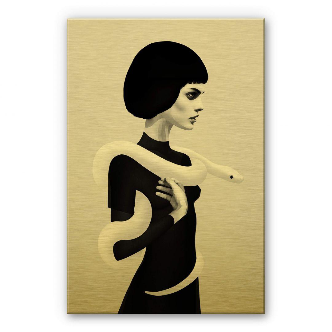 Alu-Dibond Goldeffekt Ireland - Only Skin - Die Schlange - WA251995