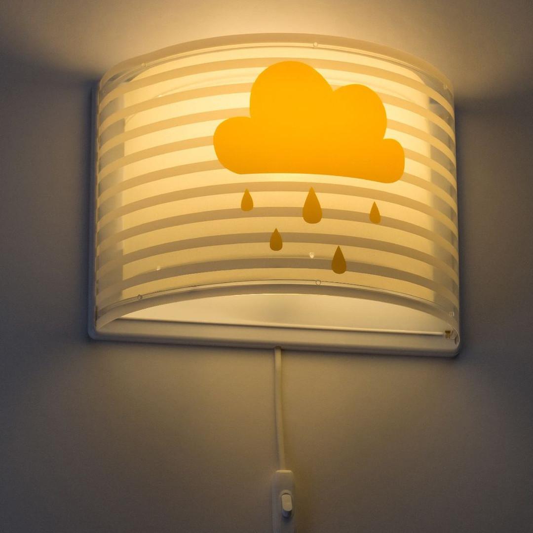 Kinderzimmer Wandleuchte Feeling in Grau und Gelb E27 - CL130351
