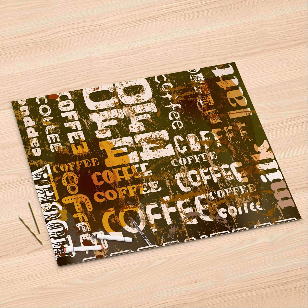 Folienbogen (120x80cm) - Coffee Typo - CR106353