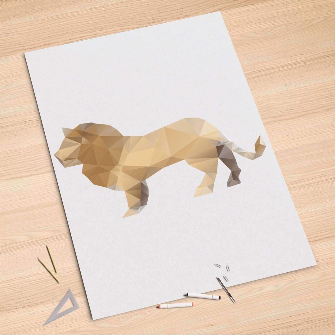 Folienbogen (100x150cm) - Origami Lion - CR106230