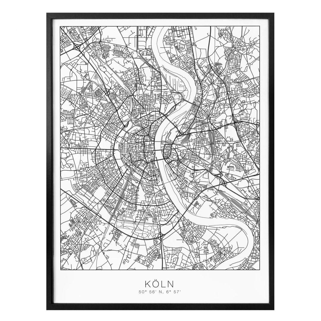 Poster Stadtplan Köln - WA259078