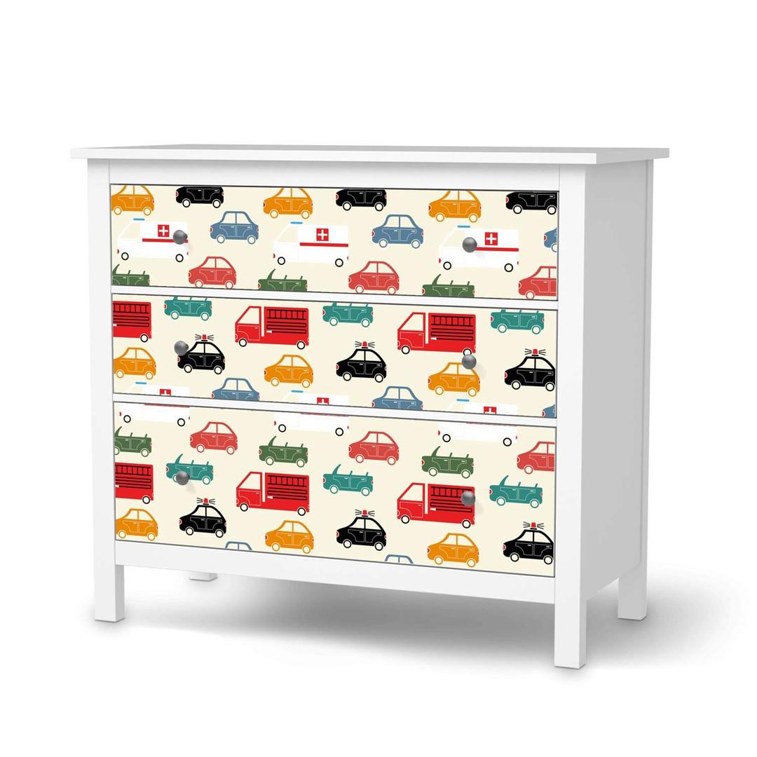 Möbelfolie IKEA Hemnes Kommode 3 Schubladen - Cars - CR114705
