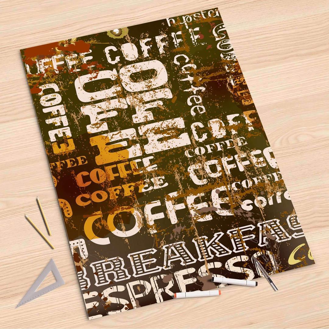 Folienbogen (80x120cm) - Coffee Typo - CR107290