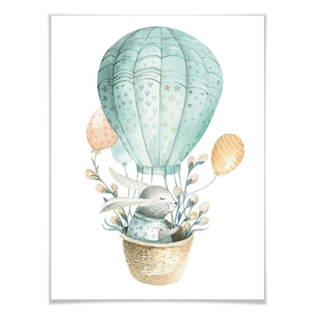 Poster Kvilis - Häschen im Ballon - WA258395