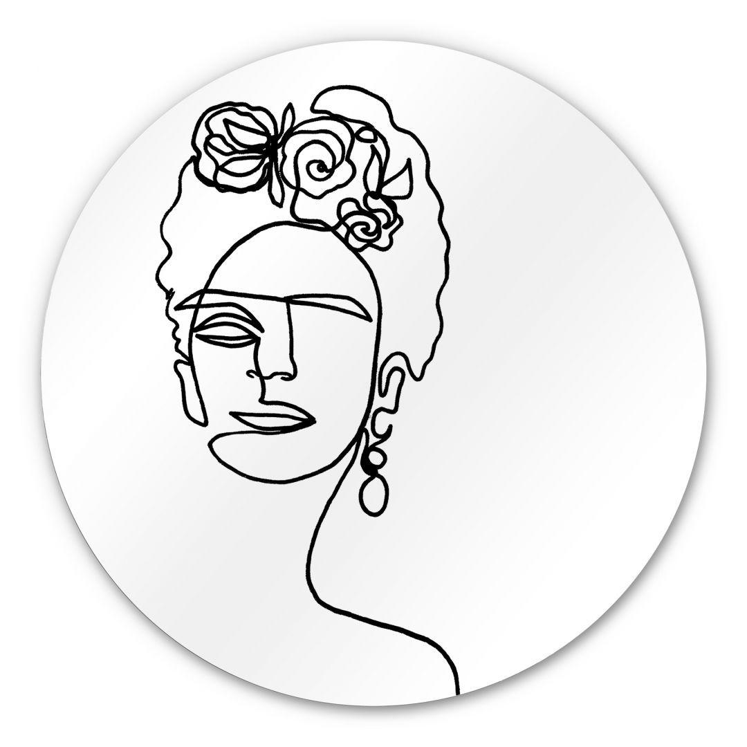 Alu-Dibond Hariri - Frida-Kahlo - Rund - WA288521