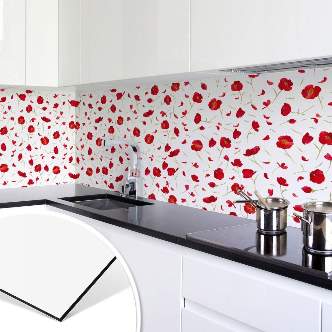 Küchenrückwand Leffler - Mohnblüten - WA253775