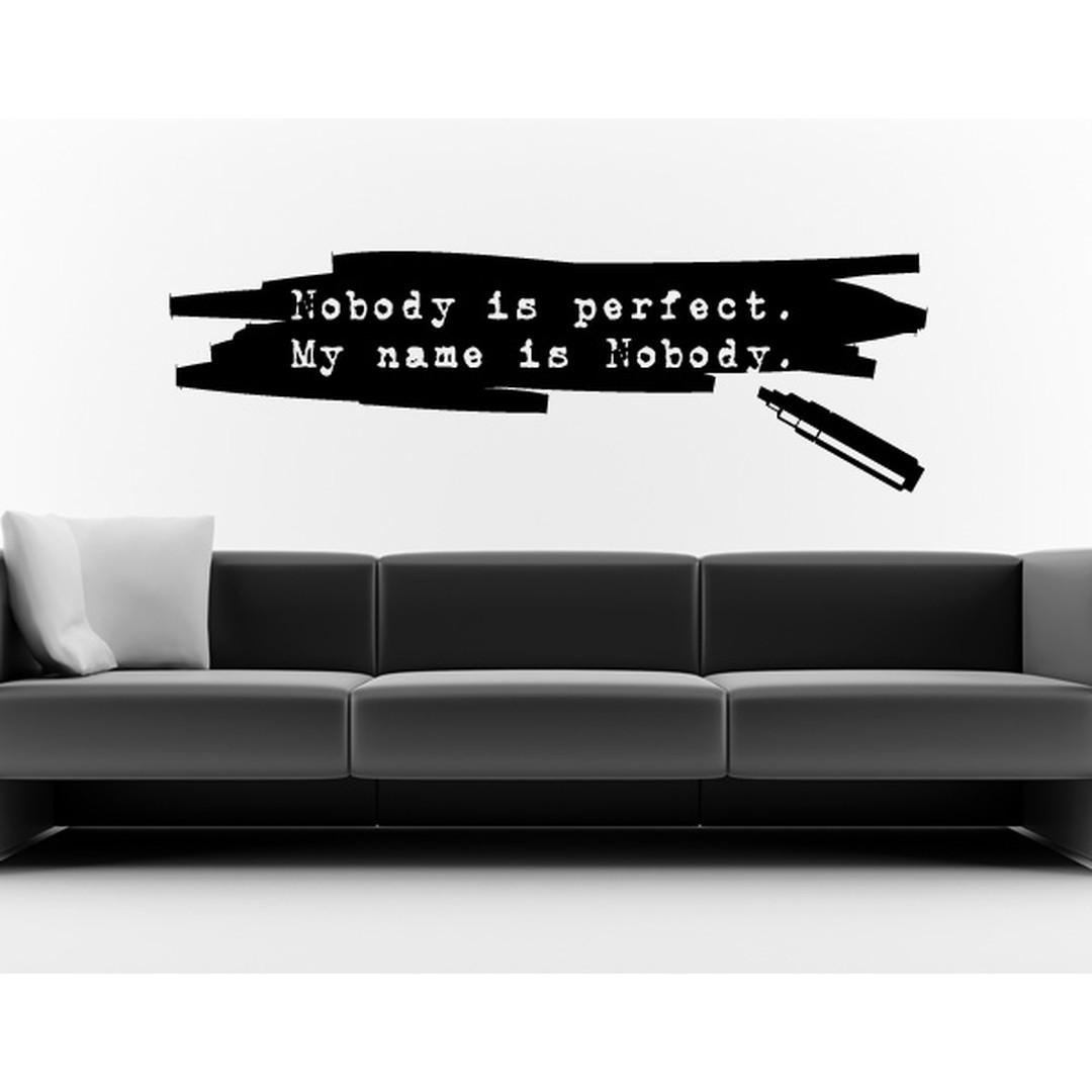 Wandtattoo Filzstift: Nobody is perfect - TD16478