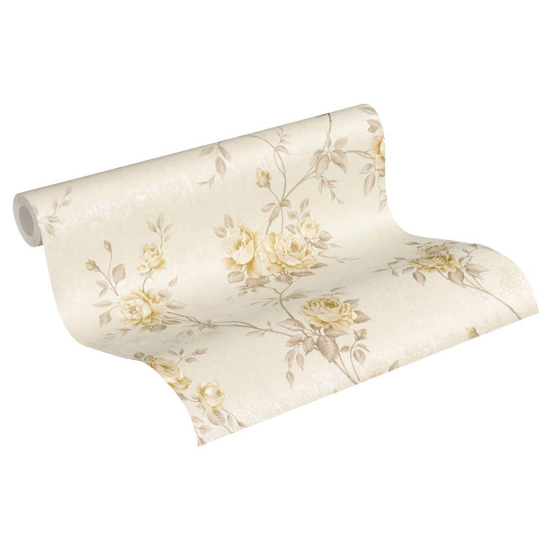 A.S. Création Vliestapete Romantico Tapete romantisch floral beige, creme, braun - WA268213