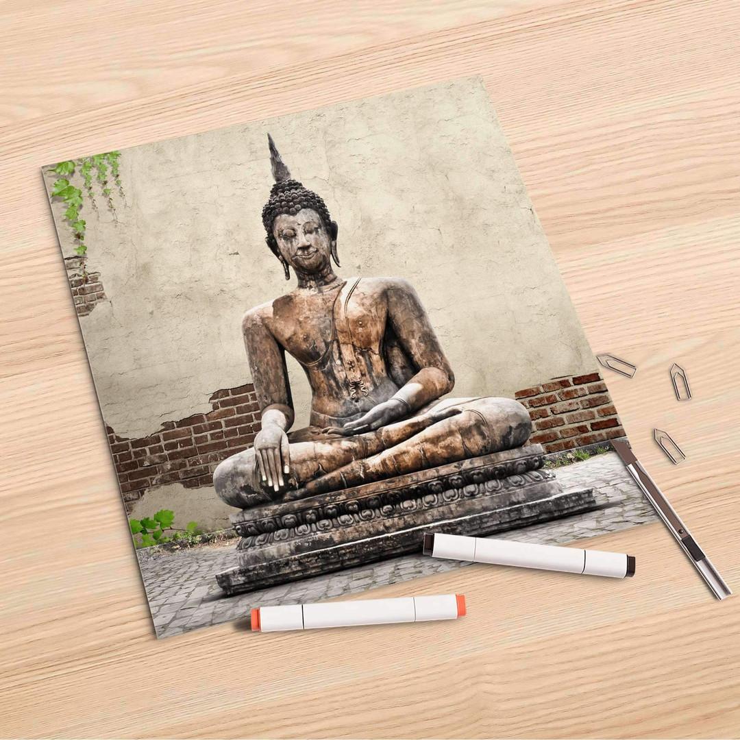Folienbogen (30x30cm) - Relaxing Buddha - CR106919