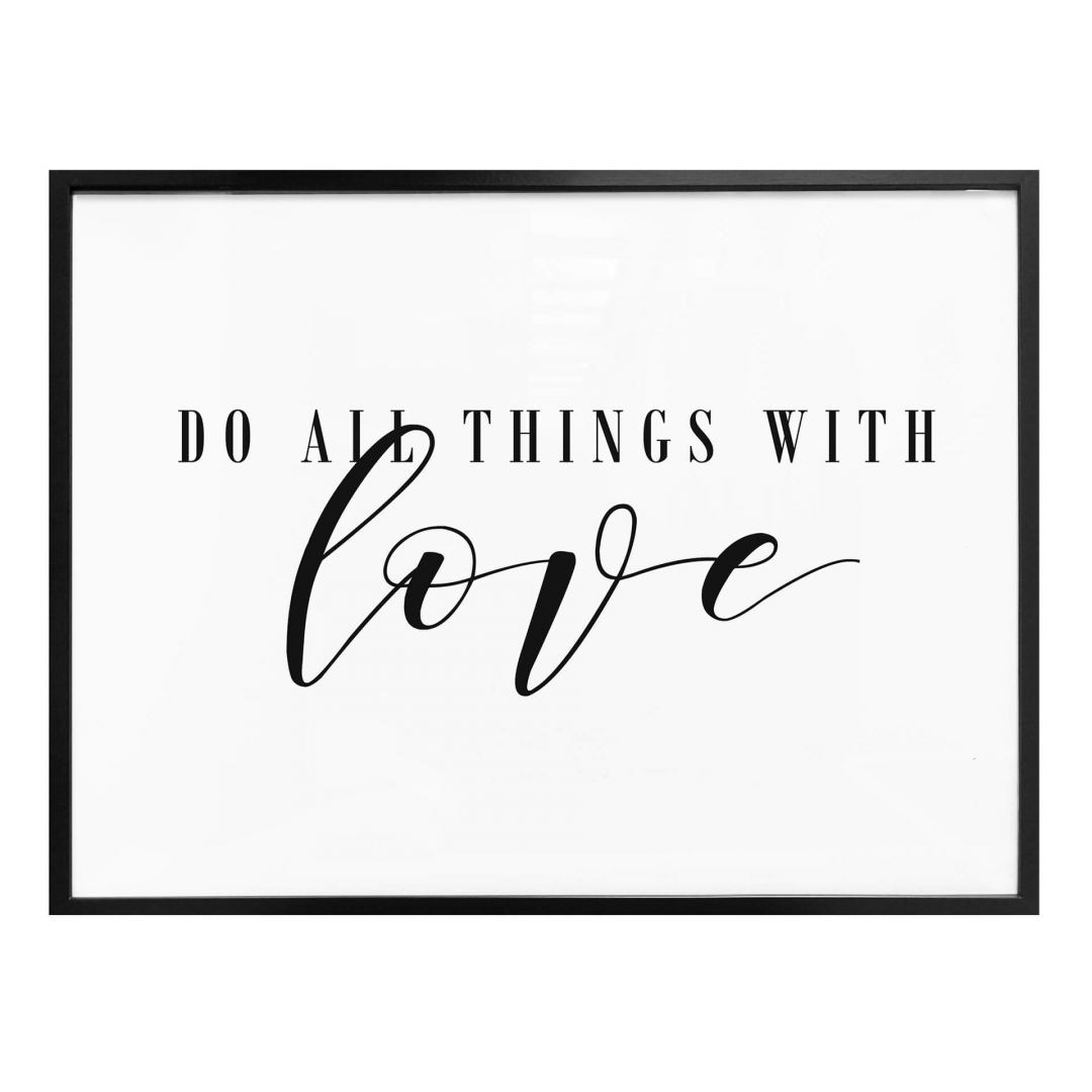Poster Do all things with love - WA257303