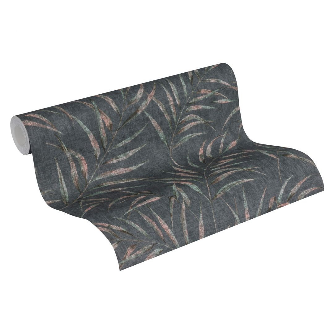 A.S. Création Vliestapete Greenery Tapete mit Palmenprint in Dschungel Optik schwarz, rosa, grün - WA268126