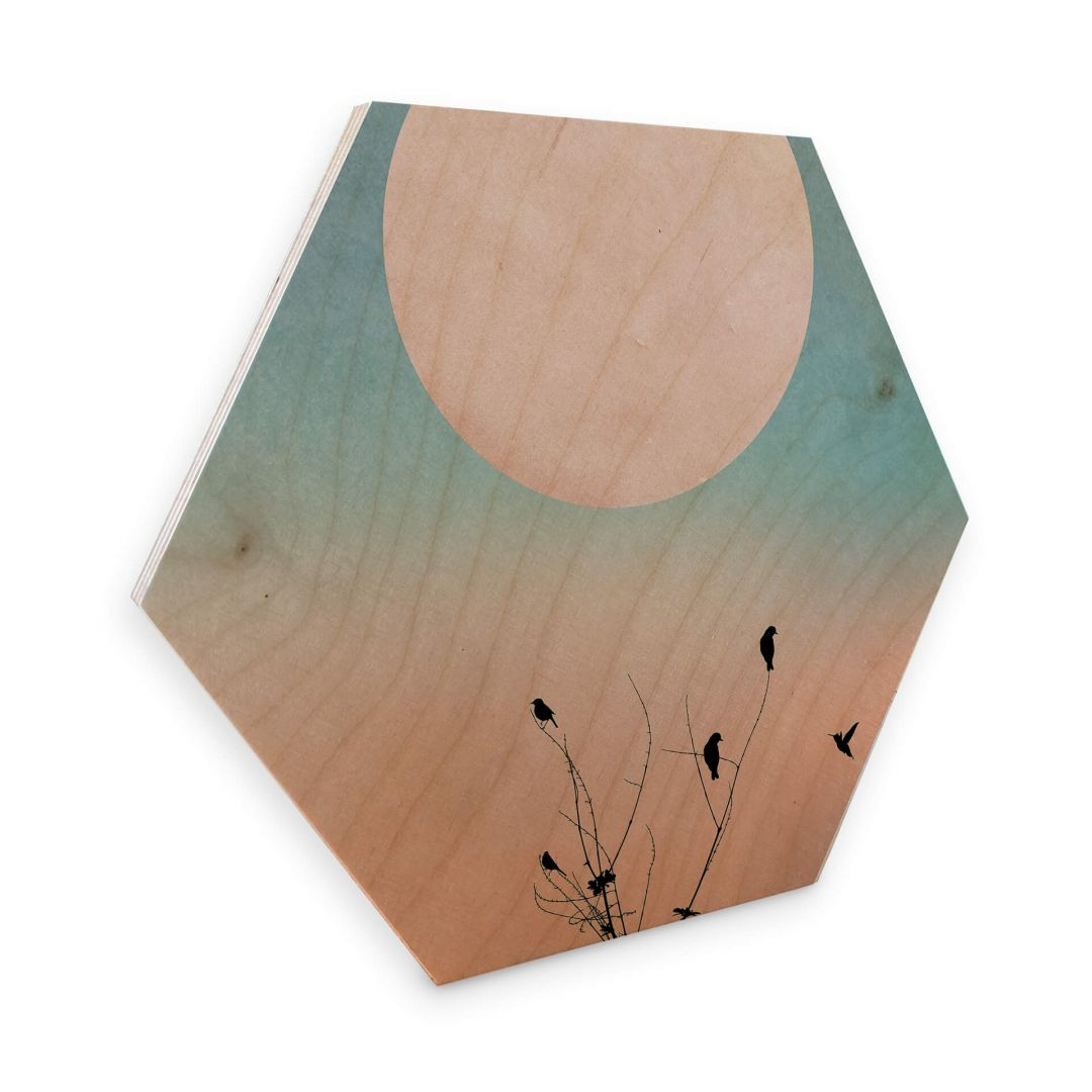 Hexagon - Holz Birke-Furnier - Kubistika - Warmer Morgen - WA253305